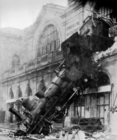1895 Montparnasse Station Train Wreck